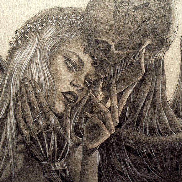 Zoe Lacchei, The Death and The Maiden | Carnivorous Beauties, La Luz de Jesus Gallery