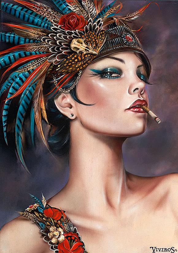 Brian M. Viveros, Viva Vaudeville - Matador, Thinkspace Art Gallery