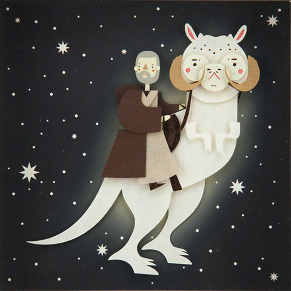 TAUNTAUN BECOMES ONE WITH THE FORCE, Crowded Teeth - Star Wars Tribute Exhibition to the Classics, Nucleus Art Gallery
