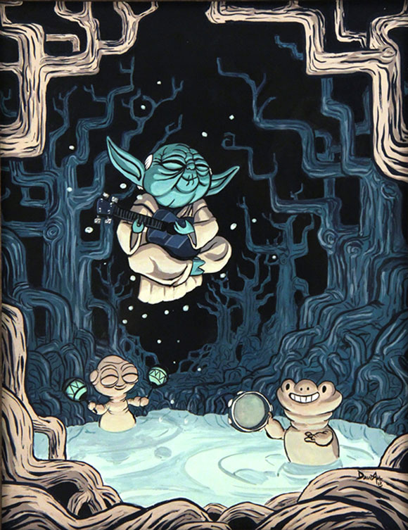 DAGOBAH NIGHTS, David Au - Star Wars Tribute Exhibition to the Classics, Nucleus Art Gallery