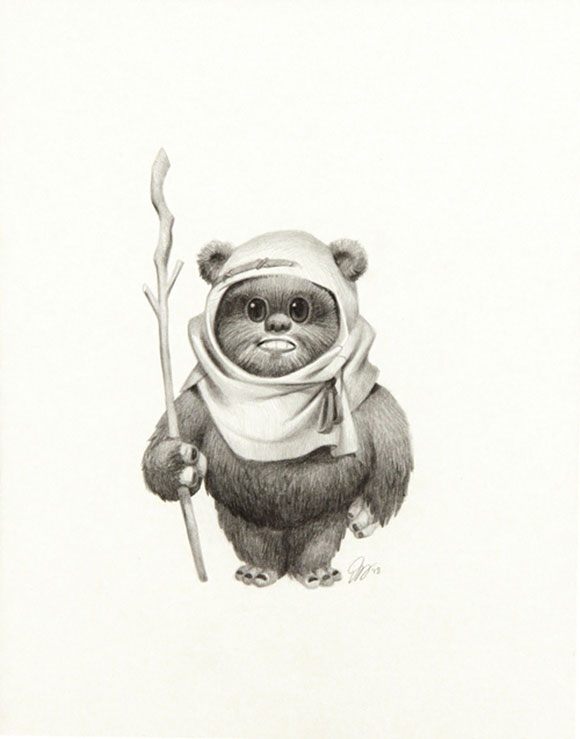 EWOK 001, Joy Ang - Star Wars Tribute Exhibition to the Classics, Nucleus Art Gallery