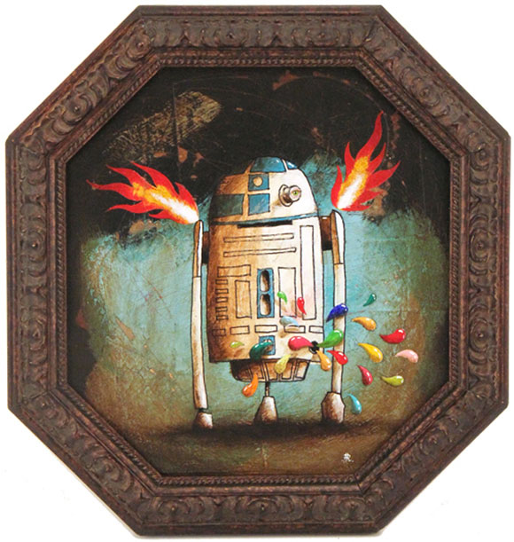 R2-D2, Robert Romanowicz - Star Wars Tribute Exhibition to the Classics, Nucleus Art Gallery