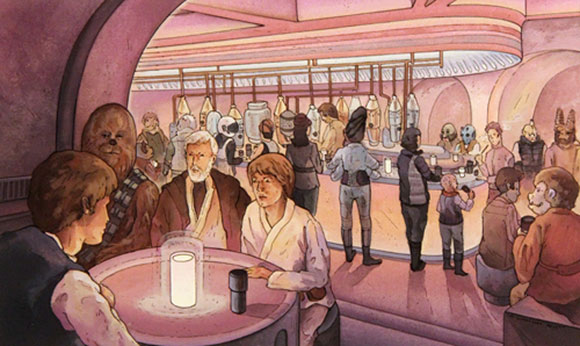 MEETING AT THE CANTINA, Nicole Gustafsson - Star Wars Tribute Exhibition to the Classics, Nucleus Art Gallery