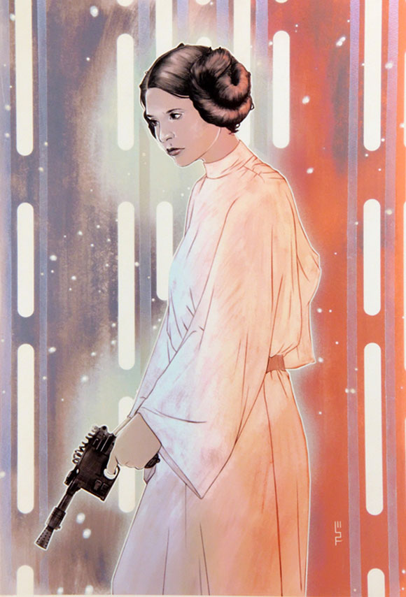 PRINCESS LEIA ORGANA, W. Scott Forbes - Star Wars Tribute Exhibition to the Classics, Nucleus Art Gallery