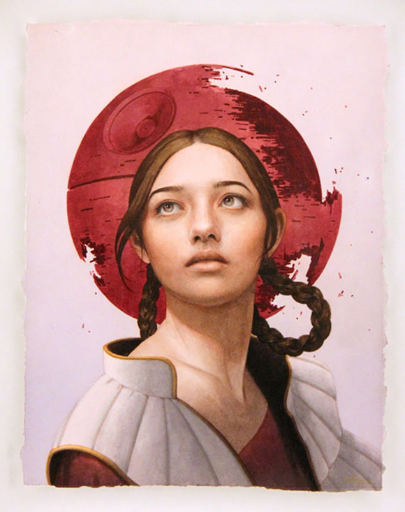 A DISTANT DEATH, Tran Nguyen - Star Wars Tribute Exhibition to the Classics, Nucleus Art Gallery