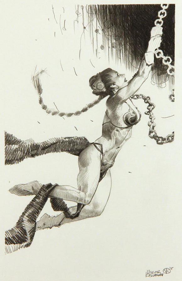SLAVE NO MORE, Viktor Kalvachev - Star Wars Tribute Exhibition to the Classics, Nucleus Art Gallery