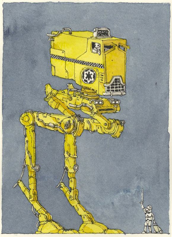 HIGH IMPERIAL TRANSPORTATION, TAXI, Mattias Adolfsson - Star Wars Tribute Exhibition to the Classics, Nucleus Art Gallery