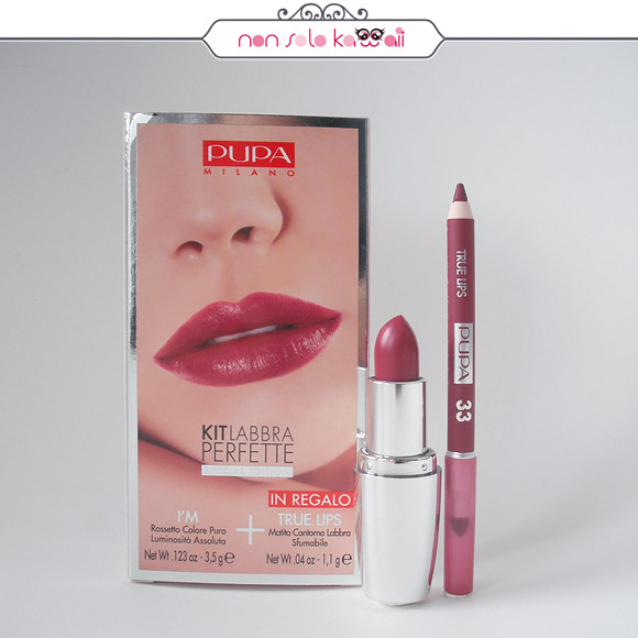 non solo Kawaii - Pupa Kit Labbra Perfette I'M 417 Light Plum + Matita True Lips 33