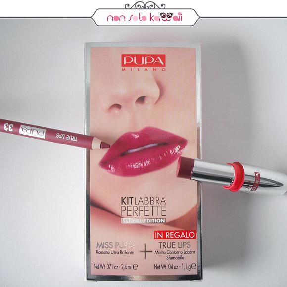 non solo Kawaii - Pupa Kit Labbra Perfette Miss Pupa 308 Intense Violet + Matita True Lips 33