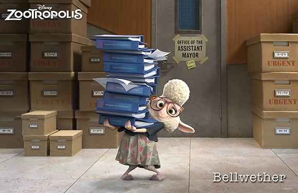 Walt Disney Animation Studios | Zootropolis or Zootopia, Bellwethe