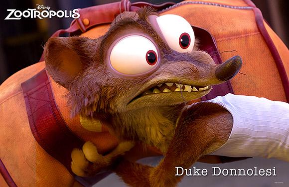 Walt Disney Animation Studios | Zootropolis or Zootopia, Duke Donnolesi