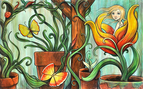 Kelly Vivanco, Bloom - Tendrils, Distinction Gallery