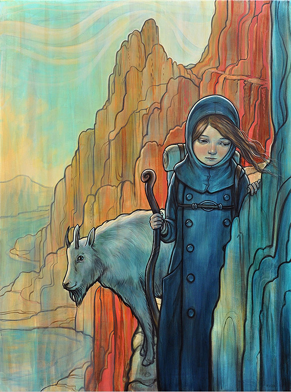 Kelly Vivanco, Mountain Goat - Tendrils, Distinction Gallery