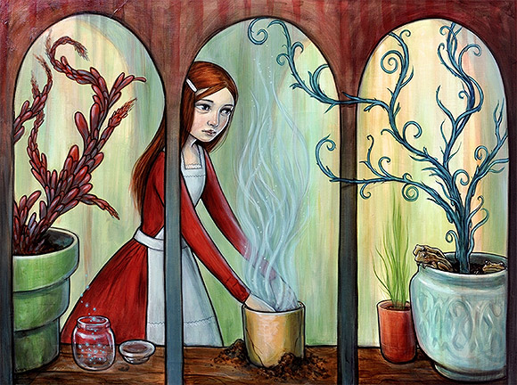 Kelly Vivanco, Potting Bench - Tendrils, Distinction Gallery
