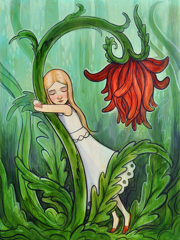 Kelly Vivanco, Red Flower - Tendrils, Distinction Gallery