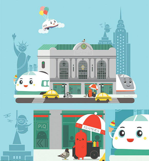Rosey Cheekes, Shinkansen choo choo! - Hello Kitty & 99 Friends - PIQ Grand Central Terminal