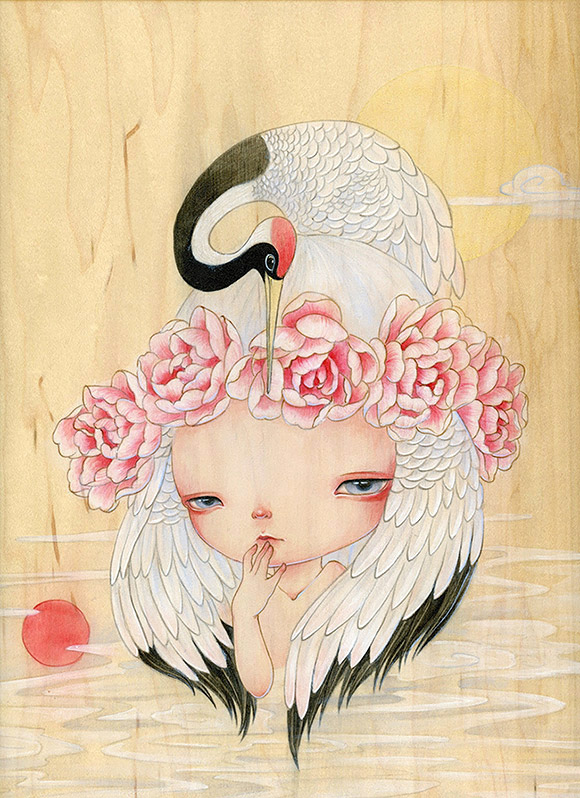 Yishu Wang, Crane Fairy - Elegantly Indomitable, Alexi Era Gallery