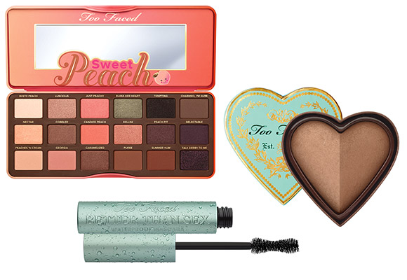 non solo Kawaii - Too Faced Sweet Peach Palette, Sweetheart Bronzer Sweet Tea, Better Than Sex Waterproof Mascara