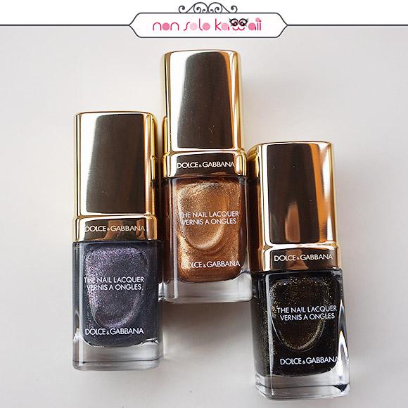 non solo Kawaii - Dolce&Gabbana Nail Laquer 830 Baroque Silver, 820 Desert, 835 Stromboli