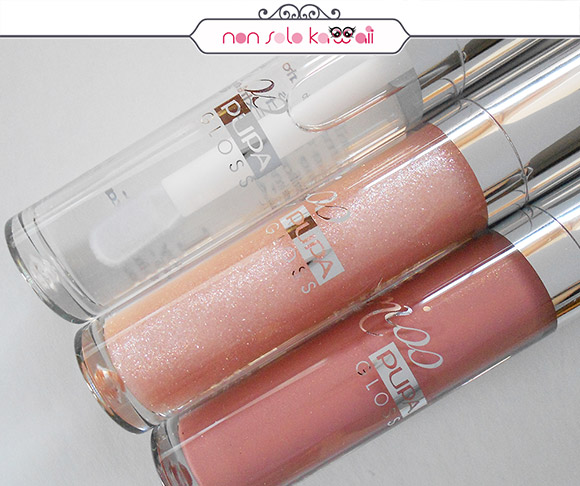 non solo Kawaii - Pupa Miss Pupa Gloss, 100 Crystal Glass, 102 Sexy Skin, 105 Majestic Nude