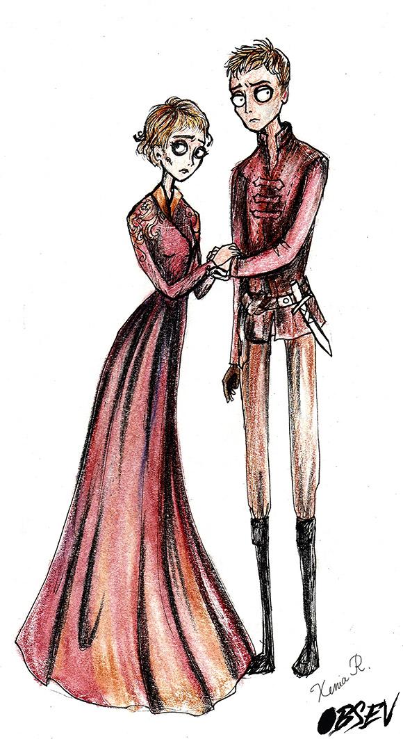 Xenia Rassolova for Obsev | Cersei And Jaime Lannister