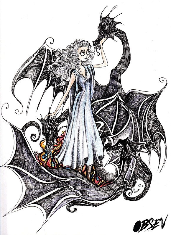 Xenia Rassolova for Obsev | Danerys Targaryen And Her Dragon
