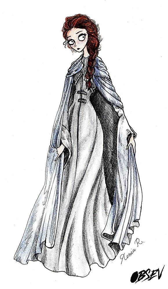 Xenia Rassolova for Obsev | Sansa Stark