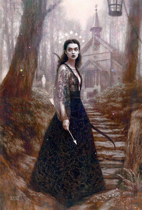 Tom Bagshaw, Forest Whispers - 10th Anniversary Exhibition, Corey Helford Gallery