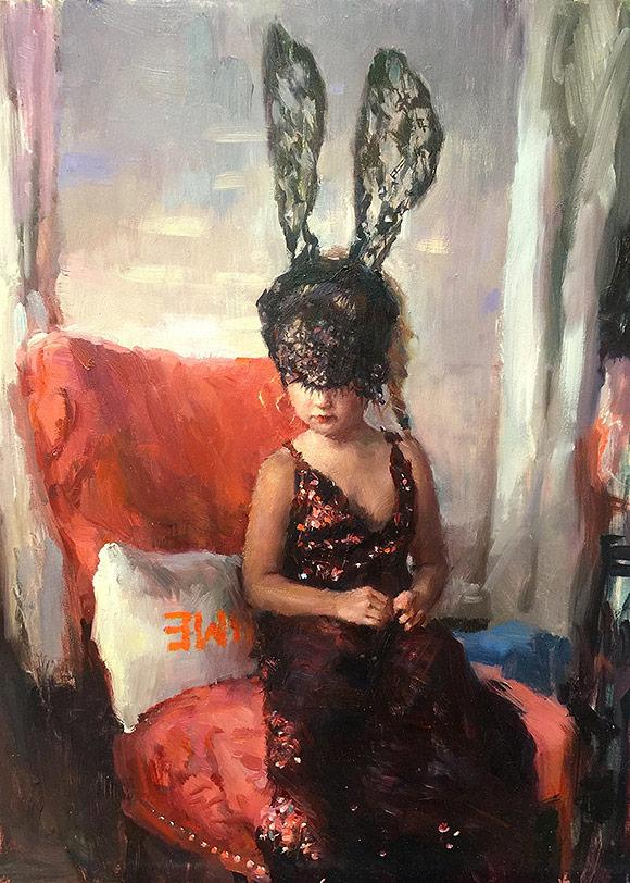 Natalia Fabia, Beau beau bunny - 10th Anniversary Exhibition, Corey Helford Gallery