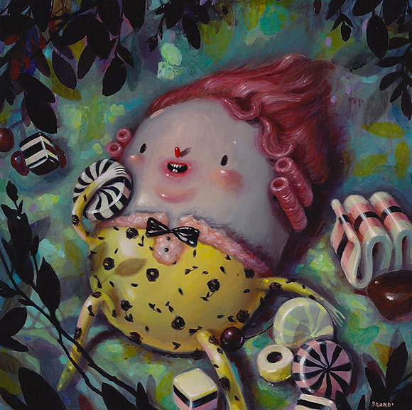 Brandi Milne, Candy Is Forever - 10th Anniversary Exhibition, Corey Helford Gallery