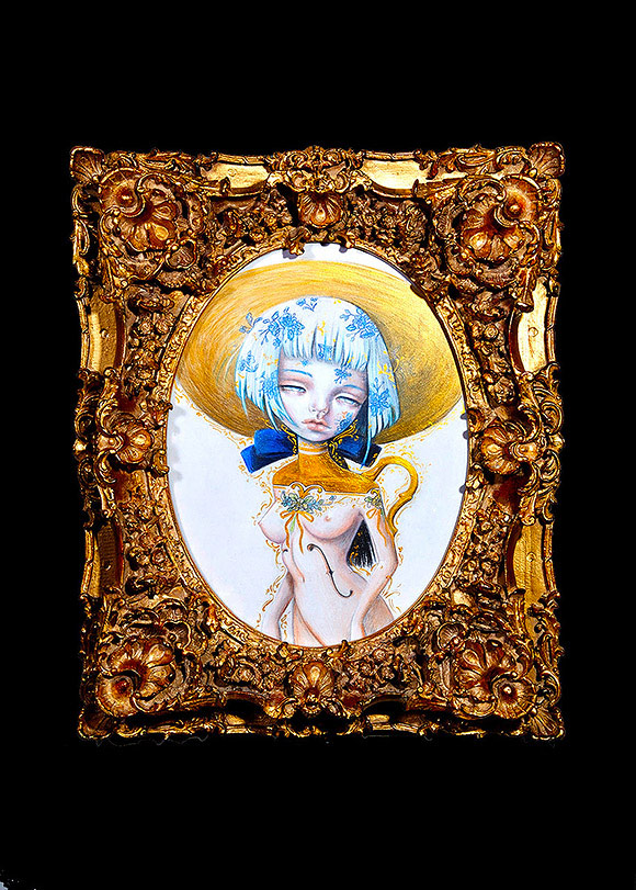 Nataly (Kukula) Abramovitch, Blue Toile - 10th Anniversary Exhibition, Corey Helford Gallery