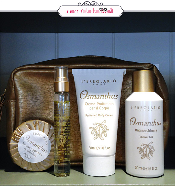 non solo Kawaii - L'Erbolario Osmathus, Travel Beauty Set