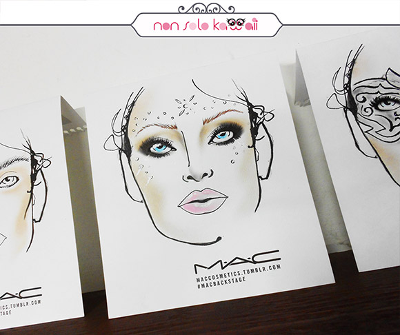 non solo Kawaii - Intimissimi On Ice, MAC Backstage facechart