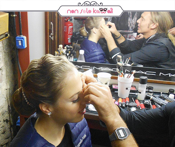 non solo Kawaii - Intimissimi On Ice, MAC Backstage con Carolina Kostner