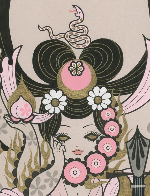Junko Mizuno, Seven Lucky Gods: Benzaiten - Takarabune, Nucleus Gallery