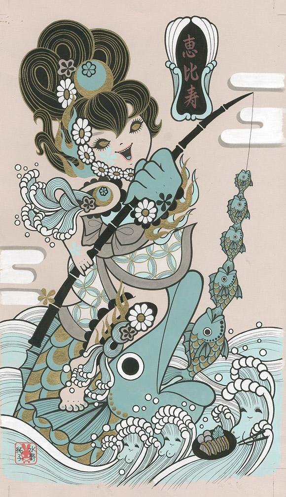 Junko Mizuno, Seven Lucky Gods: Ebisu - Takarabune, Nucleus Gallery