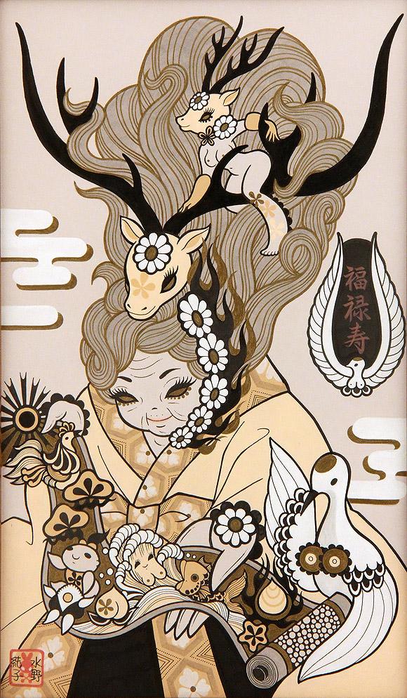 Junko Mizuno, Seven Lucky Gods: Fukurokuju - Takarabune, Nucleus Gallery