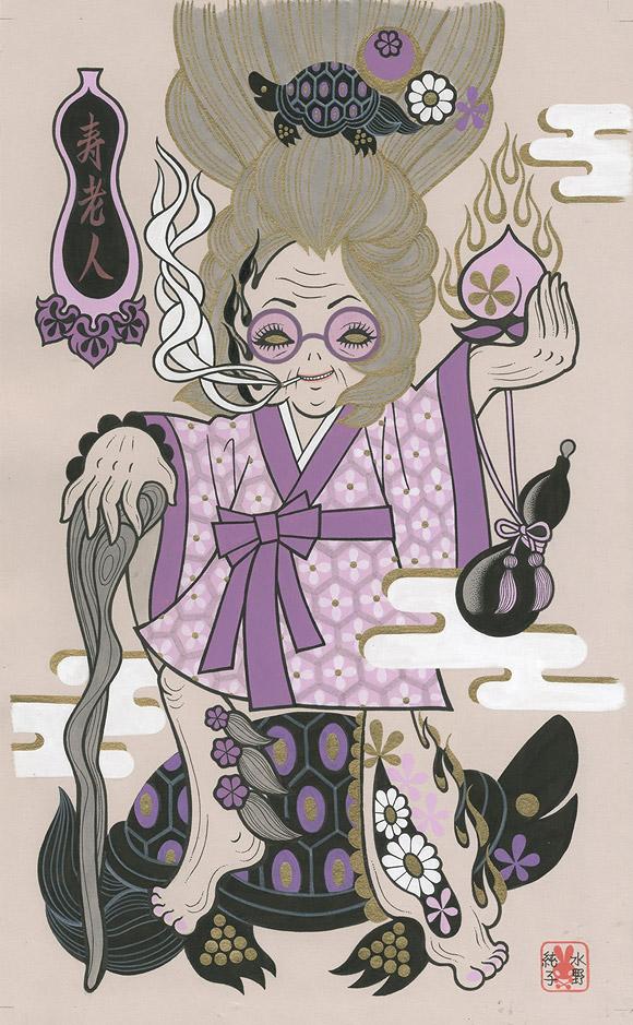 Junko Mizuno, Seven Lucky Gods: Jurojin - Takarabune, Nucleus Gallery
