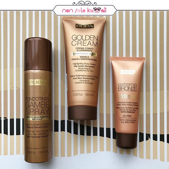 non solo Kawaii - Pupa Fondotinta Gambe Spray, Golden Cream, Extreme Bronze SPF 20