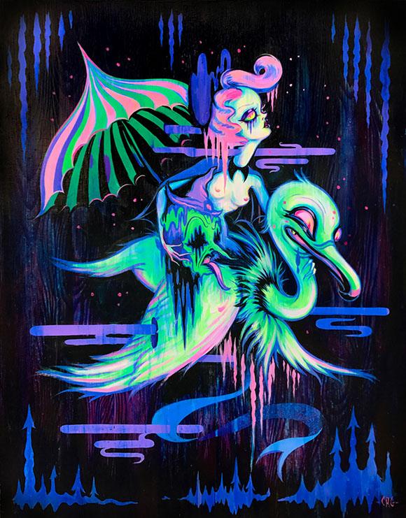 Into The Badlands, Camille Rose Garcia - Defying Gravity, Corey Helford Gallery