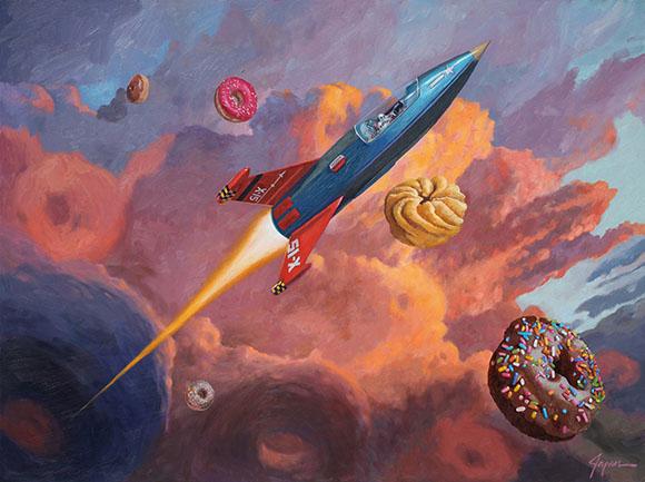 X-15, Eric Joyner - Defying Gravity, Corey Helford Gallery