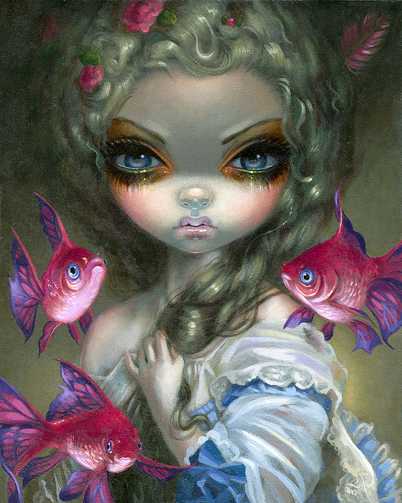 Poissons Volants: Les Poissons Roses, Jasmine Becket-Griffith - Defying Gravity, Corey Helford Gallery