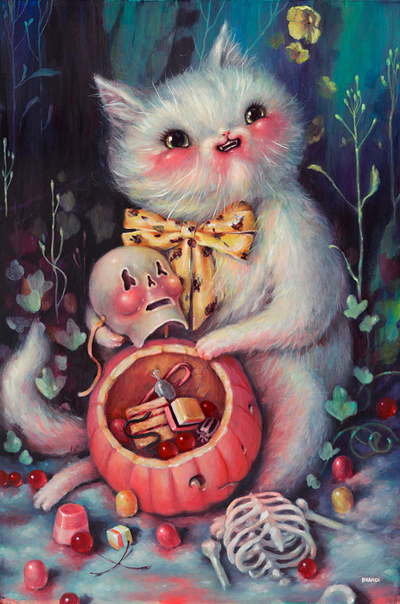 Brandi Milne, Have You Met My Friend? - Once Upon A Quiet Kingdom, Corey Helford Gallery