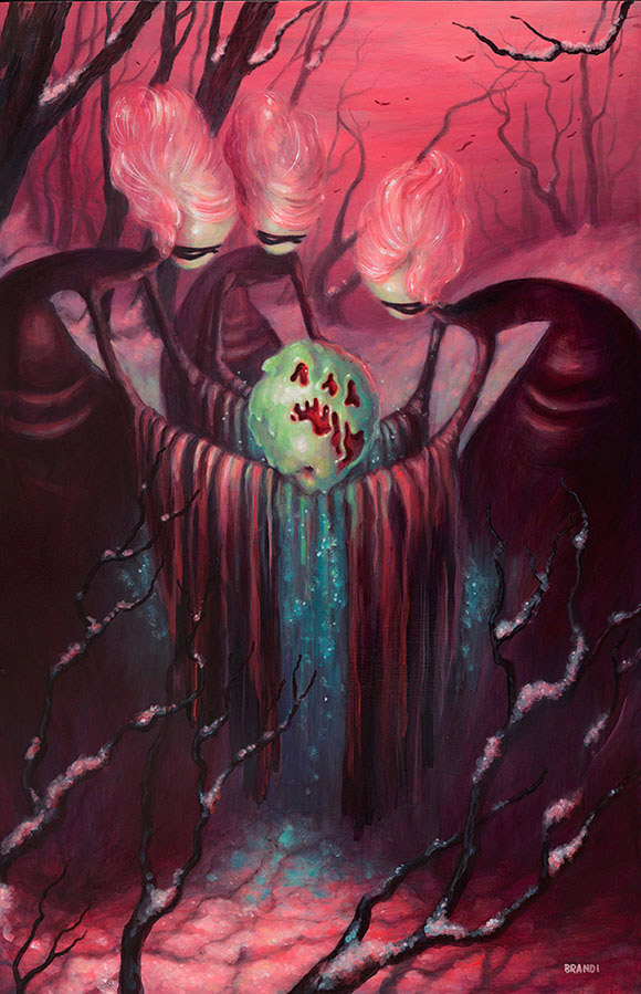 Brandi Milne, What Poison Be Your Grief? - Once Upon A Quiet Kingdom, Corey Helford Gallery