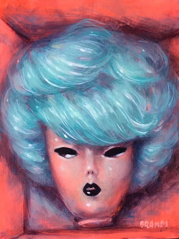 Brandi Milne, Bubblecut Blue | Full Body Vampira - Once Upon A Quiet Kingdom, Corey Helford Gallery