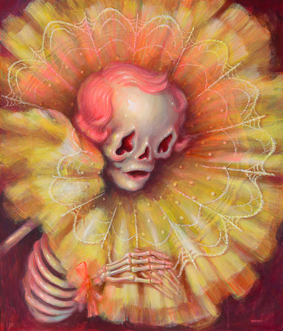 Brandi Milne, Death Song (Portrait Of Artist'S Mother, In Death) - Once Upon A Quiet Kingdom, Corey Helford Gallery