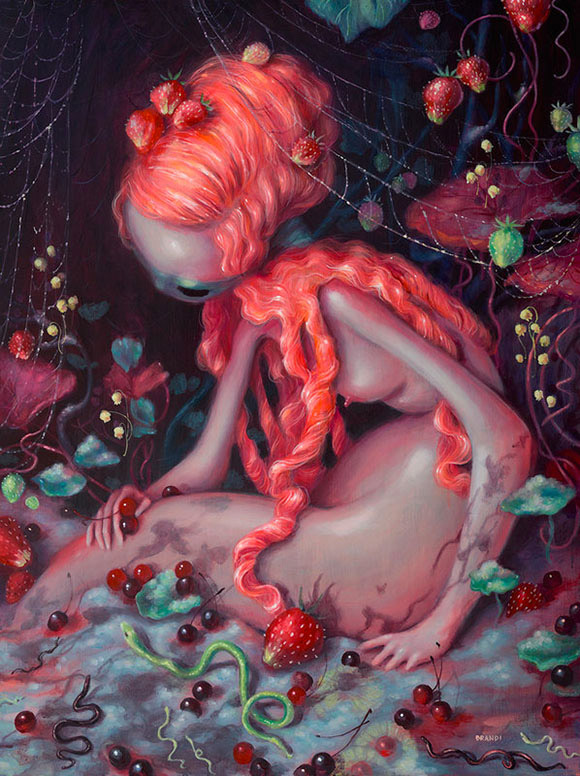 Brandi Milne,  Weep Now Or Nevermore - Once Upon A Quiet Kingdom, Corey Helford Gallery
