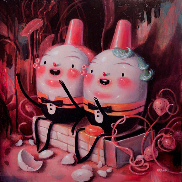 Brandi Milne, All The Kings Men - Once Upon A Quiet Kingdom, Corey Helford Gallery