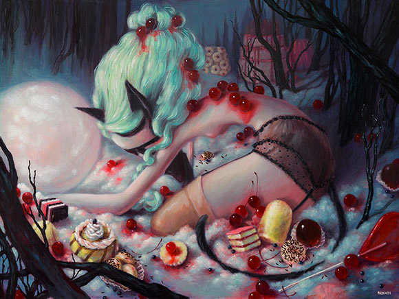 Brandi Milne, Fiend (The Ever Hunger, Wild Beast) - Once Upon A Quiet Kingdom, Corey Helford Gallery