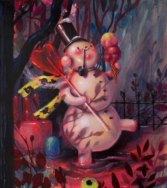 Brandi Milne, No Reason To Stay - Once Upon A Quiet Kingdom, Corey Helford Gallery